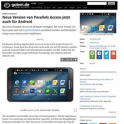 Remote-Desktop: Neue Version von Parallels Access jetzt auch für Android