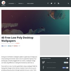40 Free Low Poly Desktop Wallpapers