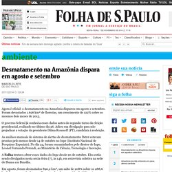 Desmatamento na Amazônia dispara em agosto e setembro - 07/11/2014 - Ambiente