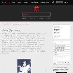 Viola Desmond - The Canadian Encyclopedia
