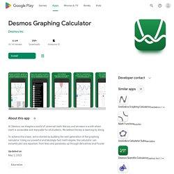 Desmos Calculadora Graficadora - Aplicaciones en Google Play