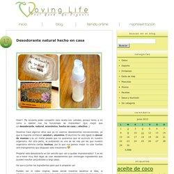Desodorante natural hecho en casa l Loving Life