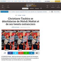 Christiane Taubira se désolidarise de Mehdi Meklat et de ses tweets outranciers