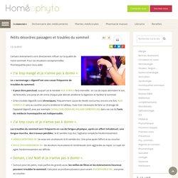 Petits désordres passagers et troubles du sommeil - Homeophyto