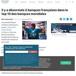 Il y a désormais 2 banques françaises dans le top 10 des banques mondiales