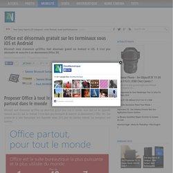 Office est désormais gratuit sur les terminaux sous iOS et Android