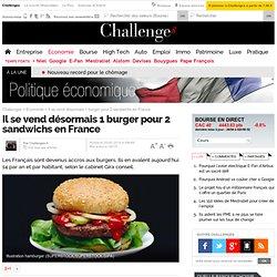 Il se vend désormais 1 burger pour 2 sandwichs en France