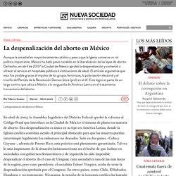 La despenalización del aborto en México