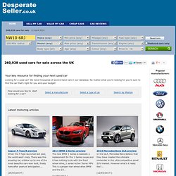 Used Cars for Sale, Sell my Car, Buy Car | DesperateSeller.co.uk