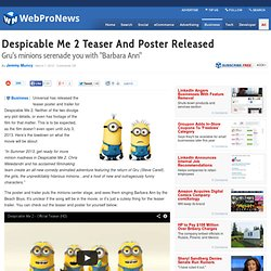 Despicable Me 2 Teaser And Poster Released