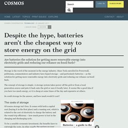 Despite the hype, batteries aren't the cheapest way to store