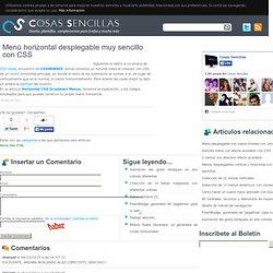 Menú horizontal desplegable muy sencillo con CSS