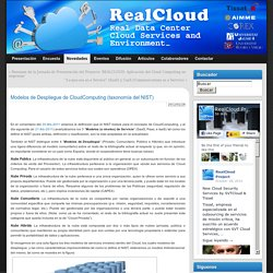 Modelos de Despliegue de CloudComputing (taxonomía del NIST) » Realcloud Project