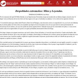 Despoblados extremeños: Mitos y Leyendas / Dominguez Moreno, José María