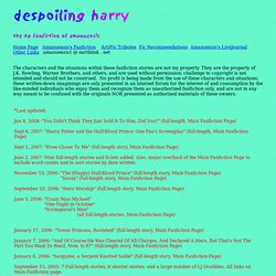 despoiling harry by Amanuensis- Home Page
