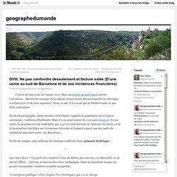 DVIII. Ne pas confondre dessalement et facture salée (D'une usine au sud de Barcelone et de ses incidences financières