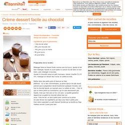 Crème dessert facile au chocolat : Recette de Crème dessert facile au chocolat