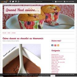 Crème dessert au chocolat au thermomix