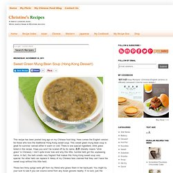 Sweet Green Mung Bean Soup (Hong Kong Dessert)