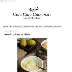 Dessert délicieux au citron