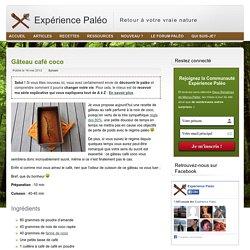 Dessert paléo: gâteau café coco