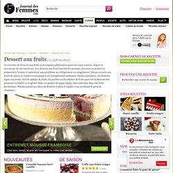 Recette de dessert aux fruits : les recettes gourmandes les mieux notées