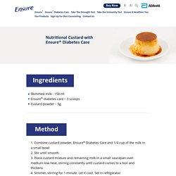 Dessert Recipe: Nutritional Custard - Ensure® India