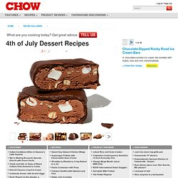 4th of July Dessert Recipes : Chocolate-Dipped Rocky Road Ice Cream Bars