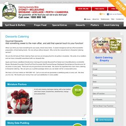 Desserts Catering - All Suburbs