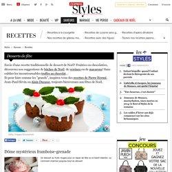 Desserts de Noël ou de fêtes