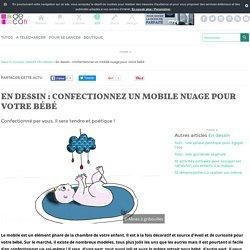 En dessin : confectionnez un mobile nuage pour votre bébé
