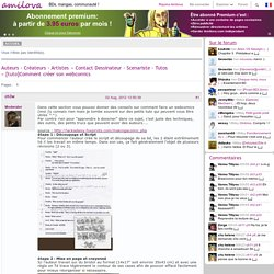 [tuto]Comment créer son webcomics (Page 1) / Contact Dessinateur - Scenariste - Tutos / Amilova Board