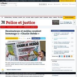 Dessinateurs et médias rendent hommage à « Charlie Hebdo »