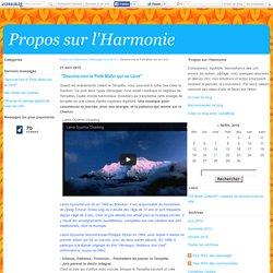 """""""Dessine-moi le Petit Matin qui se Lève"""" - Propos sur l'Harmonie"""