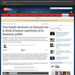 Une bande dessinée en français sur le droit d'auteur américain e