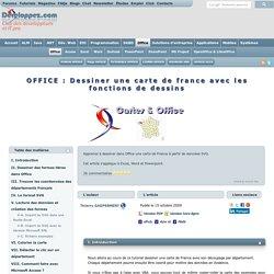 OFFICE : Dessiner une carte de france avec les fonctions de dessins