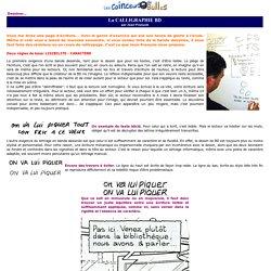 Dessiner: La calligraphie BD