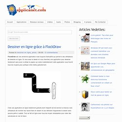Dessiner en ligne grâce à FlockDraw