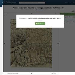 Artiste ou espion ? Dessiner le paysage dans l'Italie du XVIe siècle