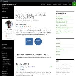 CSS - Dessiner un rond avec du texte - Le Site de Paul Gruson