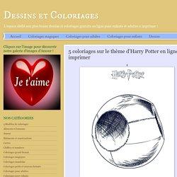 Dessins et Coloriages: 5 coloriages sur le thème d'Harry Potter en ligne à imprimer