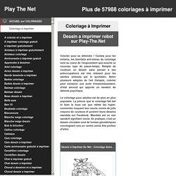 Dessins à imprimer - Dessin A Imprimer Robot sur Play-The.Net