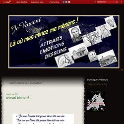cheval blanc -6- - Les dessins au portemine de Jean-Claude VINCENT
