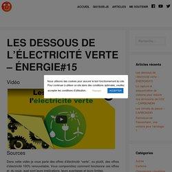 Les dessous de l'électricité verte – ÉNERGIE#15 – Le Réveilleur