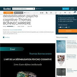 T. BONNECARRERE - L'art de la déstabilisation psycho-cognitive