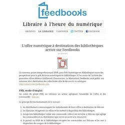 L'offre numérique à destination des bibliothèques arrive sur Feedbooks