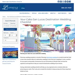 Cabo Destination Wedding Checklist & Services
