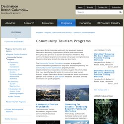Destination British Columbia - Community Tourism Programs
