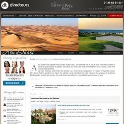 Autotours Emirats Arabes Unis , destination d'exception avec Directours [1/ 1]