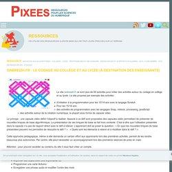 isnbreizh.fr : le codage au collège et au lycée (à destination des enseignants) — Pixees